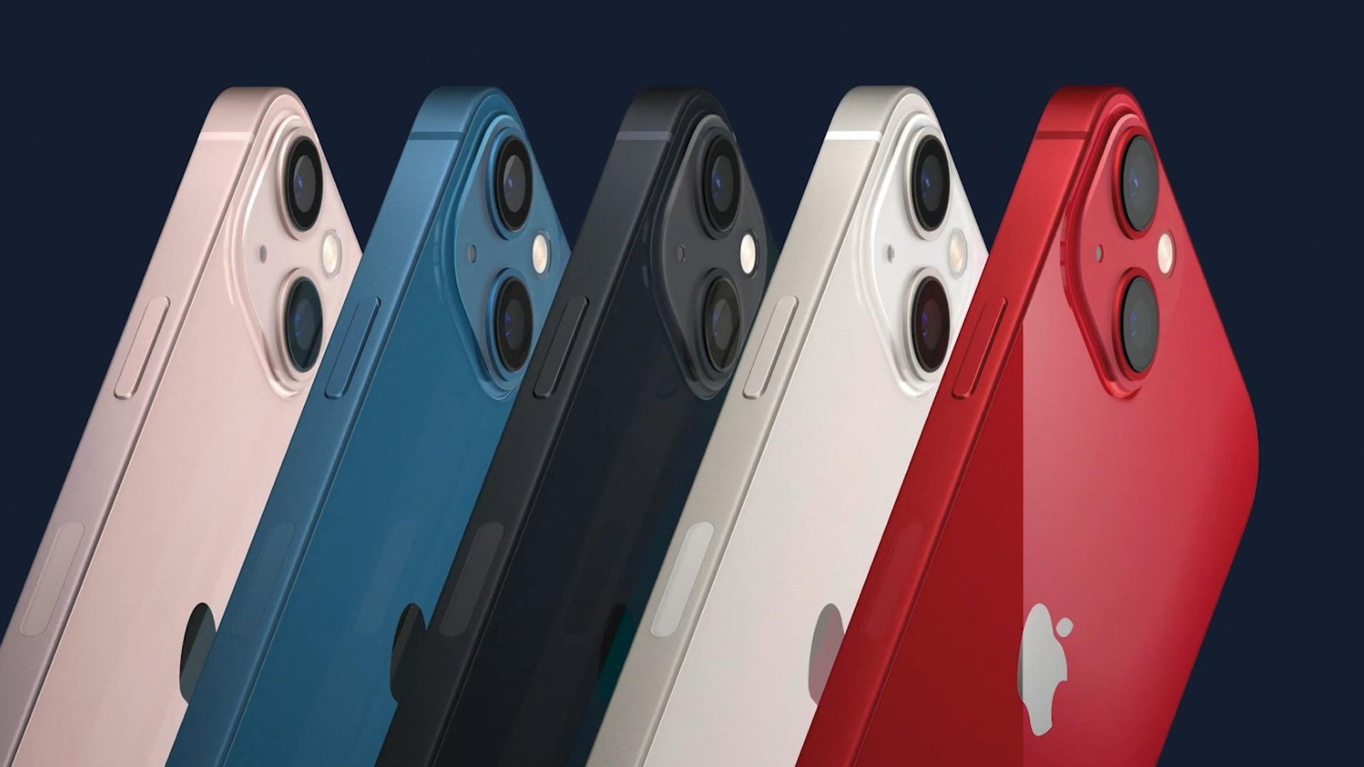 Colores iPhone 13 y iPhone 13 mini