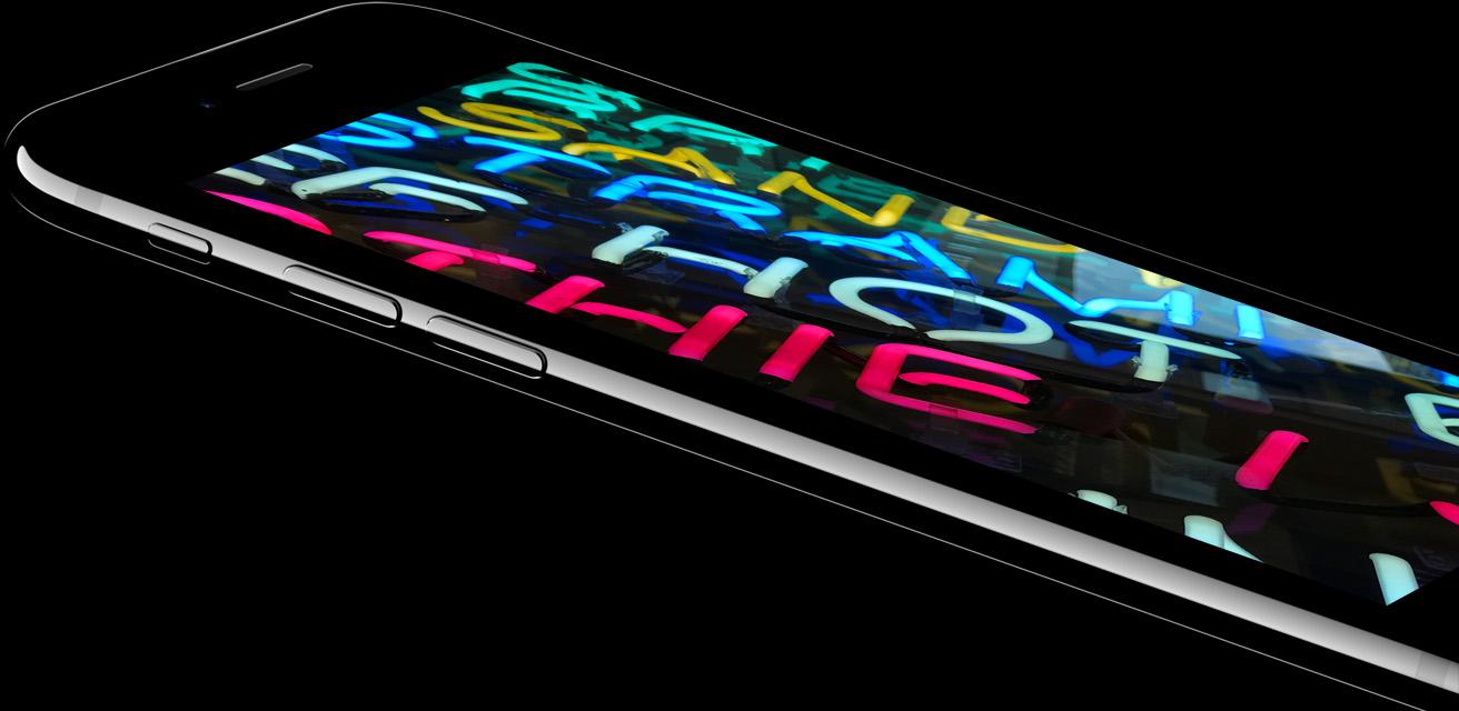 Resultado de imagen para La pantalla de iPhone más brillante y con más colores iPhone 7